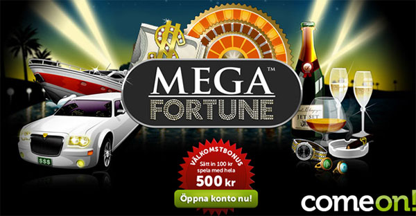 come on kasino mega fortune