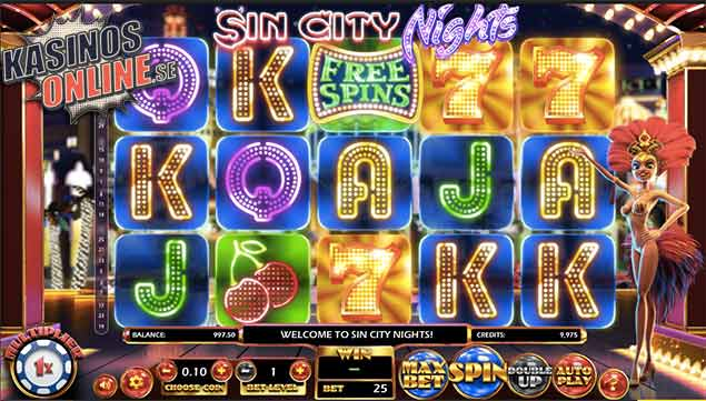 betsoft sin city nights spelautomat free spins